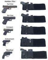 Тактическая неопреновая упругая упругая уплотнение талии, скрытая перенос пистолетной сумкой Универсальный брюшный ремень для мультифункциональной охоты