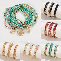 Charm Bracelets Items Ethnic Handmade Multicolor Acrylic Beads For Women Tree Pendant Bracelet Sets Bohemian Jewelry Gifts
