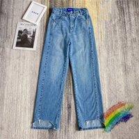 Тяжелые ткани джинсы мужские женщины 1 Высококачественная вышивка кисточки Жинские штаны внутри тега