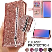 Fashion Glitter Leather Wallet Card Slots Flip Cases For Samsung A12 A31 S10 S20 FE S21 Plus Ultra M11 Case Cover