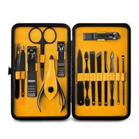 Nail Art Kits 2021 HAICAR 15Pcs Professional Stainless Steel Clippers Scissors Suit Set Manicure Tool