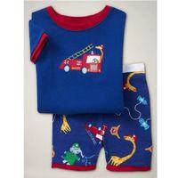Fire Motor Boys Pijamas Sets Sleepwear Step Ropa de dormir Niños Telescopio Kids Pjamas Home Wear Troadgown 210413