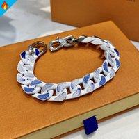 Bracciali da uomo unisex cielo blu cielo nuvola moda amore braccialetto per uomini titanio acciaio inox donne gioielli donne classiche catena marea