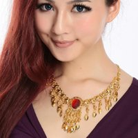 Chokers Belly Dance Skirt Necklace Costumes Top Fashion Cotton Jewelry Accessories Chain Hair Accessory Collapsibility