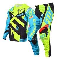 Hassas Fox 360 Divizion Motocross MX Dişli Seti ATV Dirtbike Off-Road Yarışı Erkek Pantolon Jersey Combo