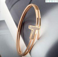 T 워드 로즈 골드 링 팔찌 사랑 팔찌 트렌드 간단한 유럽 및 미국 제조 업체 도매