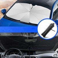 Carro dobrável Windshield Sun Shade Guarda-sol UV Cobertura Sunshade Isolamento Térmico Dianteira janela Interior Proteção