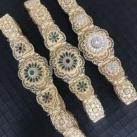 Belts Gold Silver Color Moroccan Caftan Belt For Women Dress Waist Wedding Jewelry Arab Robe Bijoux Bridal Gift 2021