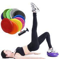 Yoga Mats 34cm PVC Inflatable Cushion Stability Sports Point Massage Mat Ball Elastic Fitness Pads