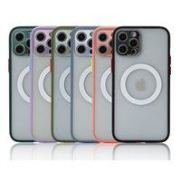 Hüllen für iPhone 12 11 Pro x XR xs max 7 8 plus matte transparent baby haut kleine kamera löcher linsenschutz telefonabdeckung