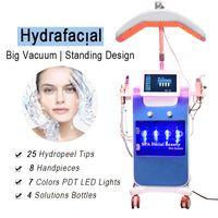 Высококольный Hydra DermaBrasion Aqua Peeling Face Hydrafacial Osygen Spray Pun Spa Salon Используйте машину ухода за кожей 8 наконечников 25 подсказки Hydopel