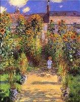 Carretera en el jardín pintura al óleo sobre lienzo Decoración para el hogar Handcrafts / HD Imprimir pared Arte de la imagen La personalización es aceptable 21061231