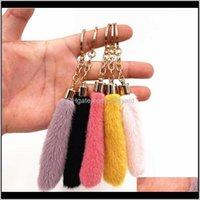 Favor Event Festive Party Supplies Home & Gardencute Tassel Plush Keychain Cartoon Bag Pendant Car Key Chain Ring Ornaments Aessories Creati