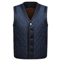 Waidx Vest Waistcoat Men Sleeveless Fleece Jacket Mens Warm Winter Thick Male Vests Old Loose Blue Gilet Chaleco Drops Men's