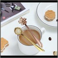 Spoons Flatware Kitchen, Dining Bar Home & Garden4Pcs Japanese Flower Shaped Dessert Spoon Coffee Petal Stirring Stainless Steel Kitchen Aes