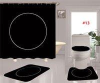 4 шт. Туалетные охватывает прилив прилив печатный водонепроницаемый душевой занавес