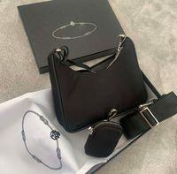 2021 Damen Umhängetasche Eine Schulter Hohe Qualität Männer Nylon Handtasche Bestseller Mädchen Hobo Brieftasche (mit Kasten und Staubbeutel)