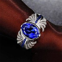Victoria Wieck Marca Hecho a mano para hombre Turquoise Jewelry 4ct Sapphire 925 Sterling Silver Silver Band Anillo Regalo 55 N2