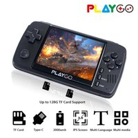 WOLSEN Playgo Upgraded 3.5 Inch IPS Retro Video Handheld Game Console Built in 16GB SD card 64 Bit Emulator console for PS1 GBA G0925