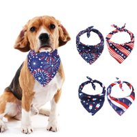 Dog Collars & Leashes American Flag Scarfs Independence Day Bibs Bandanas Grooming Accessories