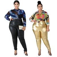 Women's Pants & Capris Women Bottoms Pu Leather Streetwear Leggings Stretchy Casual Plus Size High Waisted Wholesale Drop