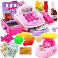 Pretend Play House Toy Toy Simulazione per bambini Supermercato Cash Register Versione aggiornata con Bilancia elettronica Giocattoli per bambini Giocattoli H1011