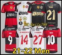 Flamengo Soccer Jerseys Player Version 2021/22 Diego E.Ribeiro Gabriel B. Gabi Football Shirts Matheuzinho Gerson Pedro de Arrascaeta Jersey Man Femmes Camisa Mengo