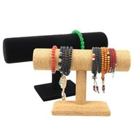 Rope Bracelet Stand Holder Chain Watch T-bar Rack Jewelry Display Organizer Bangle Showcase Pouches, Bags