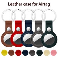 2-5pcs set Real Leather Case For Apple Airtags Protective cover High quality Apple Locator Tracker Anti-lost Device Keychain Protect Sleeve