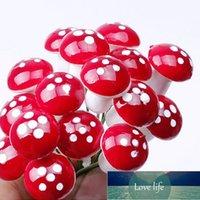 10 unids 1.6cm Mini Mini Miniaturas Artificiales Miniaturas Hadas Jardín Moss Terrarium Resina Artesanía Decoraciones