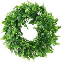 Decorative Flowers & Wreaths DIY Artificial Garlands Fake Silk Leaf Eucalyptus Plastic Green Plant Garland For Wedding Party Home Decor Acce