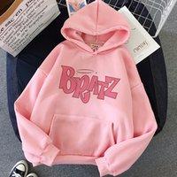 Bratz Letter Sweatshirt Harajuku Kawaii Cute Hoodies Women Kpop Winter Clothes Female Loose Tops Aesthetic Oversized Hoodies Hot