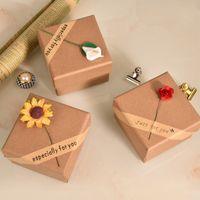 Cajas de joyería de girasol Mostrar empaques Applique Anillo de cálido Pulsera Collar Pendiente Pendiente Colgante Hecho A Mano Novia Cumpleaños Día San Valentín Joyería Joyería