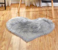 US стоковые плюшевые коврики Прекрасное персиковое сердце Carpet Home Textile Многофункциональная гостиная в форме сердца против скольжения коврик