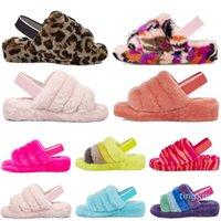 Designer Austrália Mulheres Fluff Oh Fuzz Simá Cozette Disco Verificador Scuffette Fluffita Womens Slide Australian Furel Furry Silppers