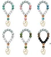 Bague porte-perles en silicone BRACELET FAVOR FAVOR PERCHETS PEARS CAMOUFLAGE CARREAUREUR DE POIGNAGE PRINCIER Empêcher les bracelets manquants DHB7731