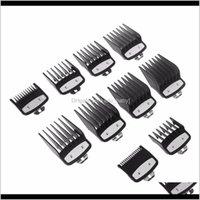 Herramientas 10 unids 1dot5mm-25mm Climper Limit Guía de peine Tamaño de sujeción Peluquero Reemplazo de pelo Cuidado de cabello Estilo Set DFUJB D8I57