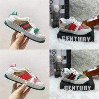 Retro moda çocuk küçük arı atletik ayakkabı erkek ve kız bebek düz konforlu yürümeye başlayan çocuk ayakkabı