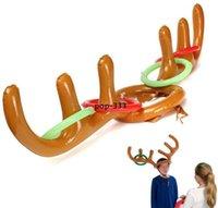 Globo inflable PVC Reno de Navidad Antller Hat Hat Toss Toss Fun Juego Favorece Navidad Fiesta Decoración Niños Juguetes