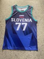 2021 Newest Tokyo Eslovenia Basketball Jersey Luka Doncic 77 Impresión