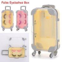 False Eyelashes Design Plastic Makeup Tool Mink Lash Tray Multicolor Suitcase Box Luggage Eyelash Package