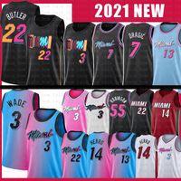 Miami Heat 13 Bam Tyler 14 Herro Adebayo Jimmy 22 Butler Basketball Jersey Dwayne Dwyane 3 Wade 7 Goran 55 Duncan 25 Kendrick Robinson Dragic Nunn