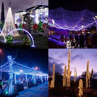 LED-Saiten kleine Farblichter blinkendes Licht überall über den Himmelsterne im Freien Beleuchtungsstangen Hochzeitsdekoration Lampe Festival Weihnachtslampen