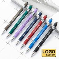 أقلام حبر جاف متعددة الوظائف السعة السمعي قلم الأعمال الإعلان مخصص شعار المعادن محايد القلم شاشة اللمس بالجملة لوازم الطلاب