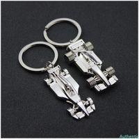 F1 키 체인 레이싱 활동 선물 성격 펜던트 키 버클 자동차 키 체인 남자 보석 열쇠 고리 실버 색상을 조각 할 수 있습니다
