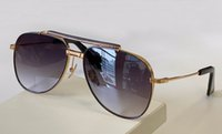 Gold Black Pilot Sunglasses Grey Shaded Sunnies Type unisex Fashion Sun Glasses Occhiali da sole UV400 Protection Eyewear with box