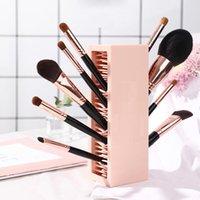 Maquiagem escova caixa de armazenamento cosmético rack sheves inserção livre de silicone lipstick organizador caixas caixas