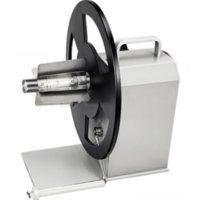 Tag Gun Q5 Label Rewinder Winder Código de barras Papel auto-adesivo Roupas auto-adesivas Máquina de rebobinamento de duas vias Regulamento de velocidade automática