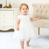 Винтажные белые детские платья Крещение крещении платья цветок девушка платье отлично подходит для свадьбы день рождения партия фея принцесса лук