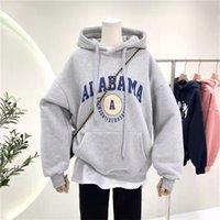 women's hoodies fashion winter fleece Sweatshirts warm Casual High street hiphop Outwear lady